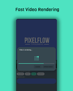 PixelFlow - Intro maker and text animator Screenshot
