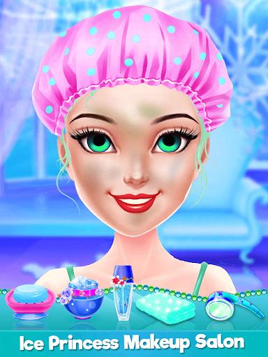 ice princess makeup salon games for girls screenshot 2