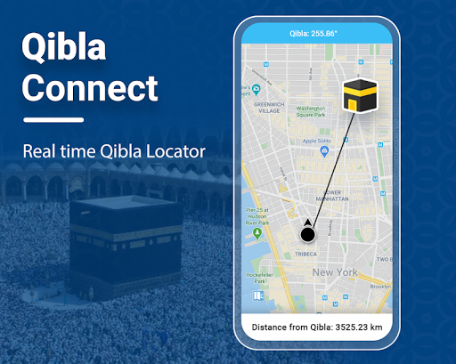 Qibla Connectu00ae Find Direction- Prayer, Azan, Quran 7.7 Screenshots 1