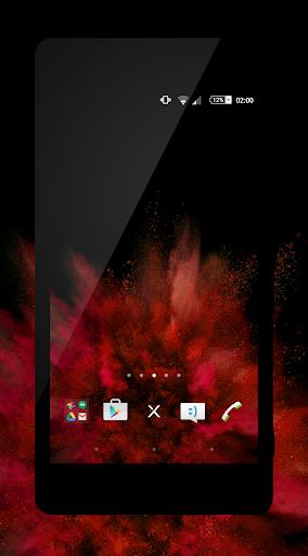 xblack - red premium theme for xperia screenshot 1