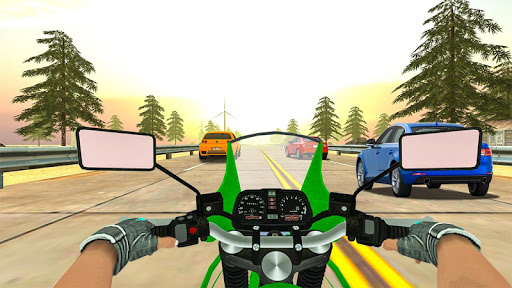Highway Real Traffic Bike Racer screenshots 7