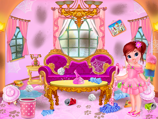 Princess House Cleanup For Girls: Keep Home Clean apkpoly screenshots 2