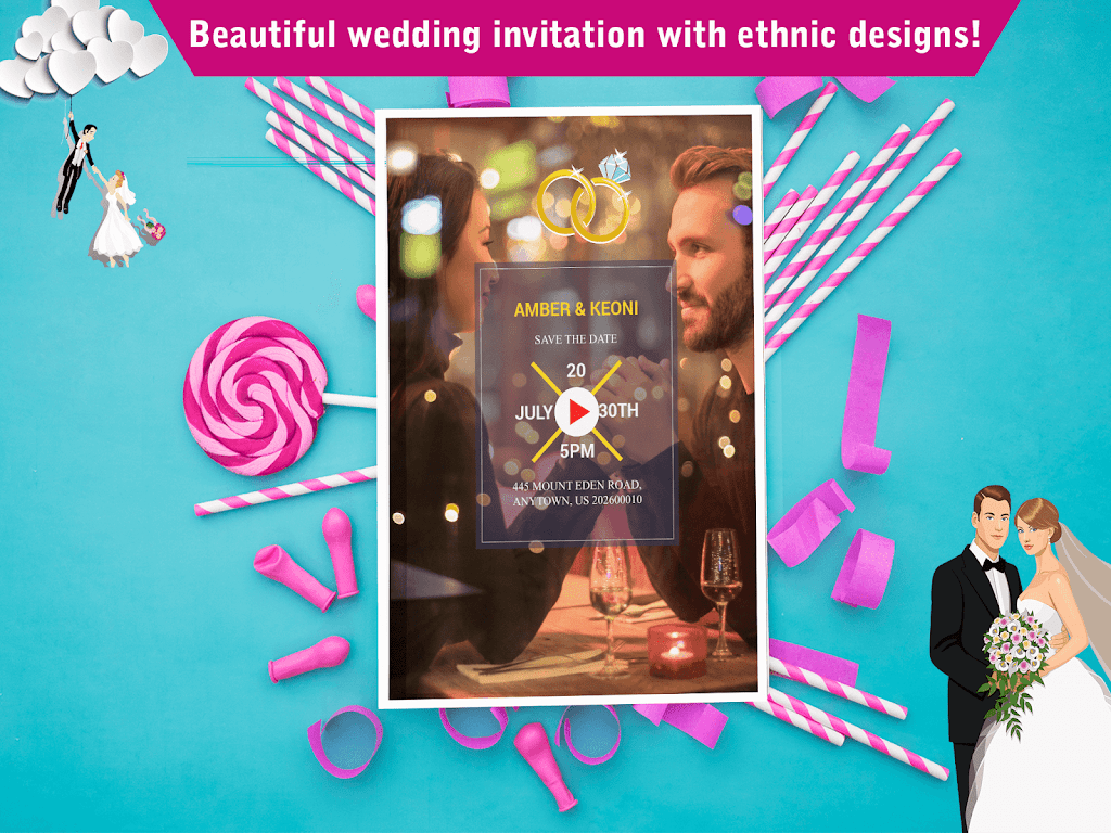 Wedding Card Design & Photo Video Maker With Music  poster 19