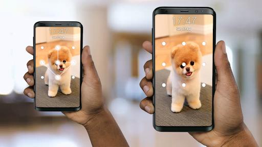 Puppy Dog Pattern Lock Screen screenshots 1