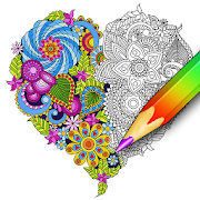 Coloring for adults – relaxing app - coloring book  Icon