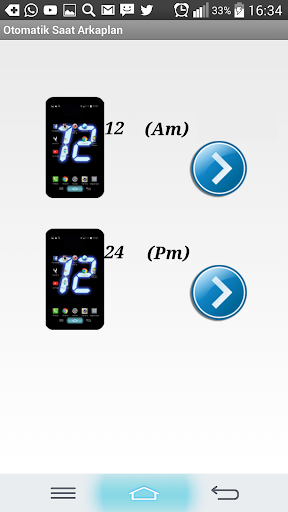 digital clock wallpaper screenshot 2