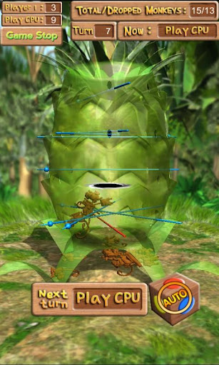 Dropping Monkeys 3D Board Game - Play Together.  screenshots 4