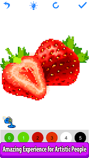 Fruits Color by Number - Pixel Paint, Number Draw