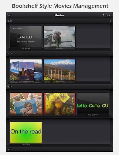 Cute CUT - Video Editor & Movie Maker  Screenshots 12