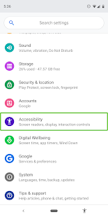 Android Accessibility Suite Screenshot