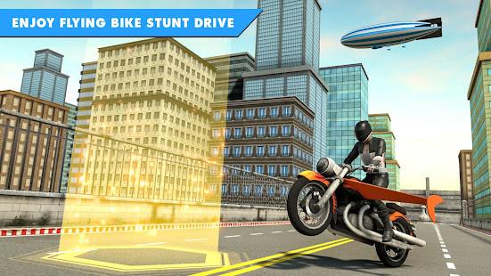 Flying Bike Stunt Racing- Impossible Stunt Games 2.1 Screenshots 4