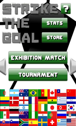 strike the goal -soccer themed physics puzzle game screenshot 1