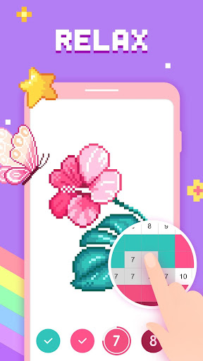 Paint by Number - Pixel Art, Free Coloring Book screenshots 3