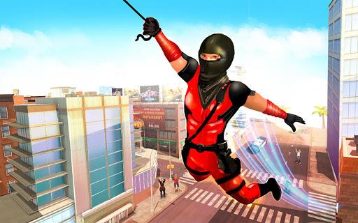 Flying Ninja Rope Hero: Light Speed Ninja Rescue apkpoly screenshots 5