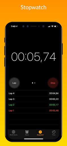iClock iOS - Clock iPhone Xs, Phone 13 android2mod screenshots 7