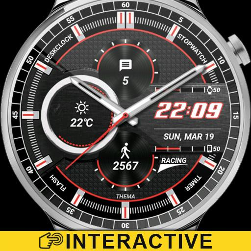 Racing Watch Face & Clock Widget Icon