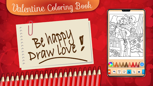 Valentines love coloring book  screenshots 7