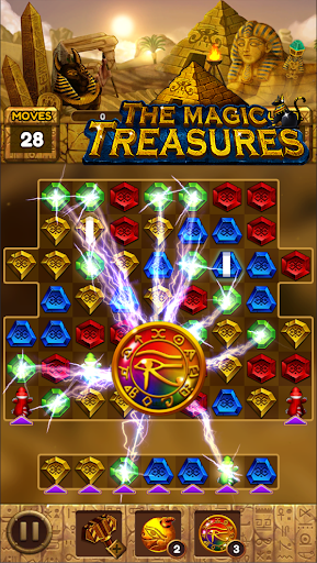 The magic treasures: Pharaoh's empire puzzle apkslow screenshots 11