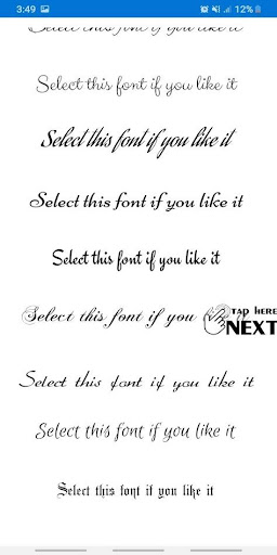 Free Fonts - outline fonts and write calligraphy 27.0 Screenshots 4