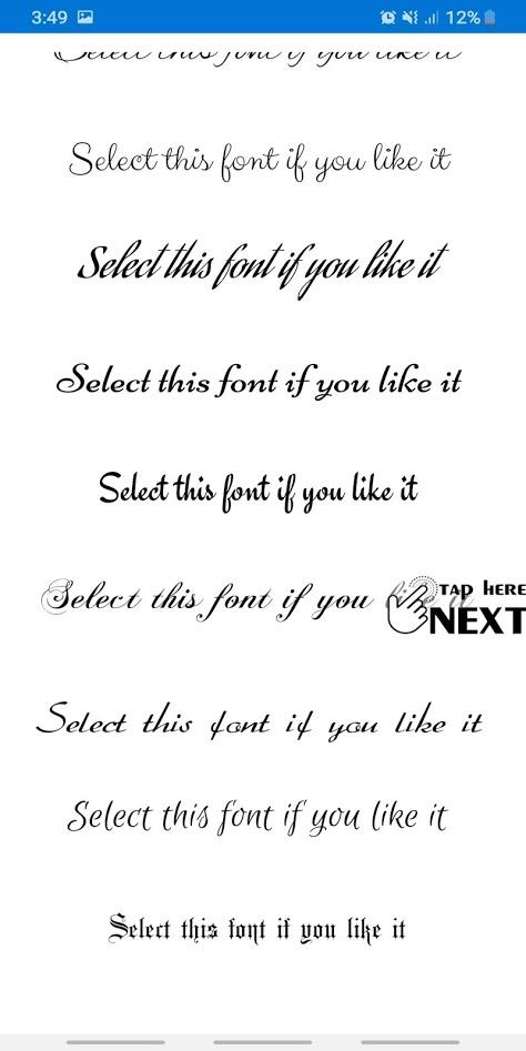 Free Fonts - outline fonts and write calligraphyのおすすめ画像4