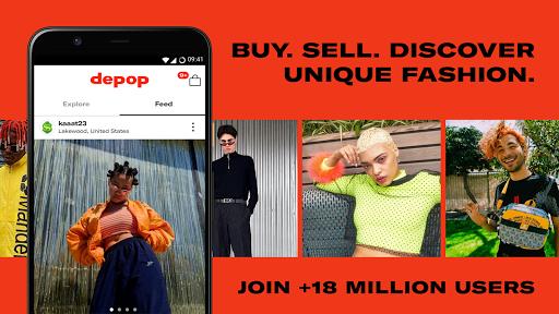 Depop - Streetwear & Vintage Fashion Marketplace 2.126 Screenshots 1