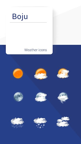 Boju weather icons