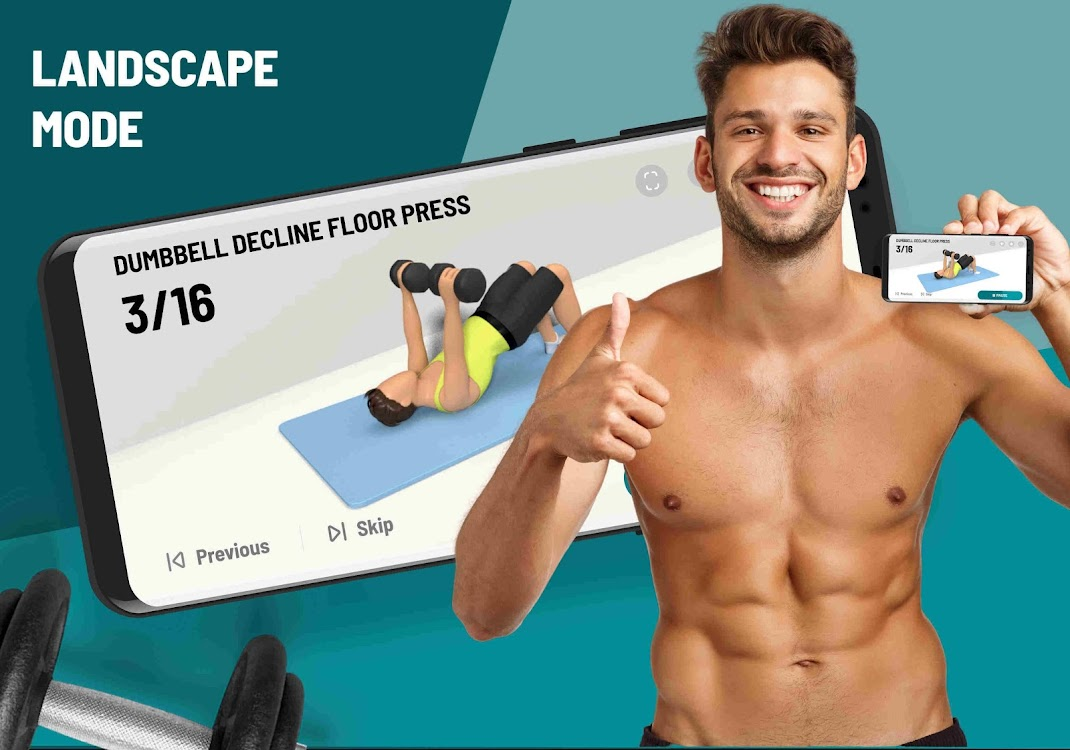 dumbbell workout at home - 30 day bodybuilding by leap fitness group - (android apps) — appagg