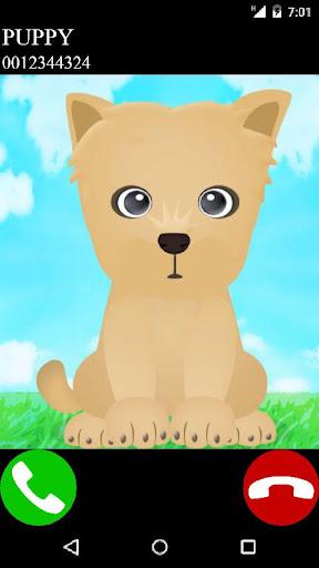 fake call puppy game  screenshots 1