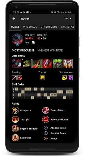 Probuilds for LoL & Wild Rift - LoLegacy android2mod screenshots 2