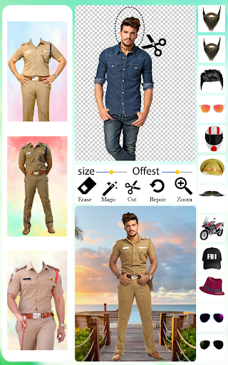 Men Police Suit Photo Editor android2mod screenshots 3