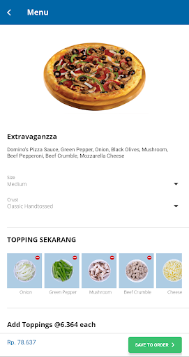 Domino's Pizza Indonesia - Home Delivery Expert 5.1.07 Screenshots 7