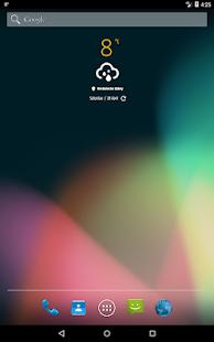 Simple weather & clock widget (no ads)