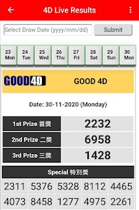 4D Live Results 7