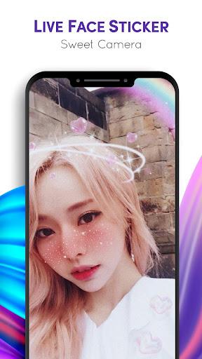 Live Face Sticker Sweet Camera  Screenshots 7