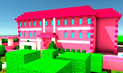 Pink Princess House Craft Game 2.7 screenshots 1