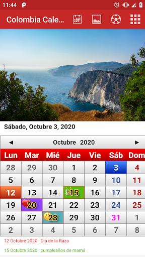 colombia calendario 2020 screenshot 1