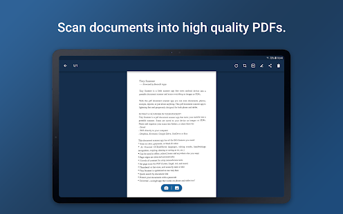 Tiny Scanner - PDF Scanner App Screenshot
