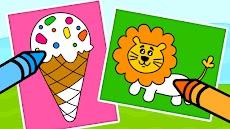 子供用 塗り絵ゲーム - お絵かき&塗り絵ブックのおすすめ画像2