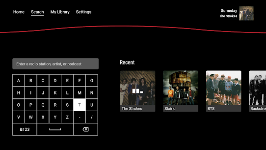 iHeartRadio for Android TV 1
