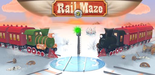 Screenshot of Rail Maze 2 Train puzzler