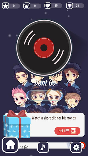 Piano EXO 2020 - Tap Tiles OFFLINE 5.1 screenshots 1
