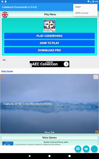 Codeword Puzzles Word games, fun Cipher crosswords 7.5 screenshots 9