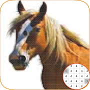 Horse Animal Pixel: Coloring By Number