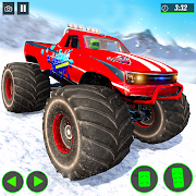 Monster Truck Snow Mountain Stunts Racing 2021