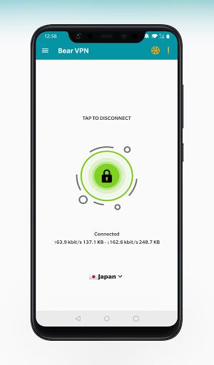 Bear VPN - Free & Unlimited VPN android2mod screenshots 1