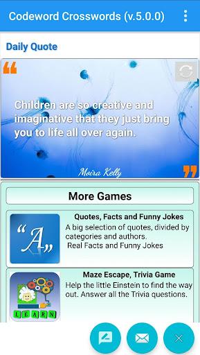 Codeword Puzzles Word games, fun Cipher crosswords 7.5 screenshots 4