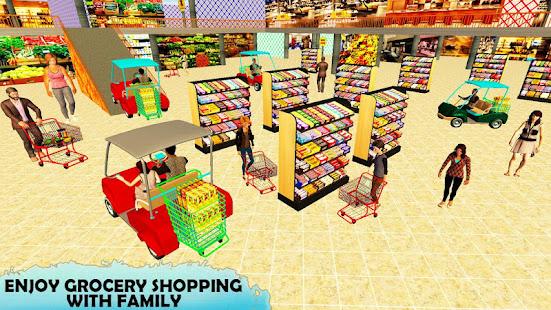 スーパーマーケットイージーショッピングカートドライビングゲーム