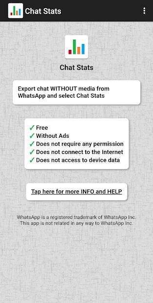 Captura de Pantalla 2 de Chat Stats para WhatsApp para android