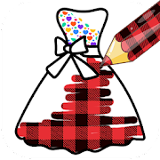 Pattern Coloring Game For Dresses