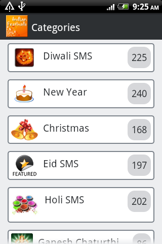 Festival SMS Collection For PC Windows (7, 8, 10, 10X) & Mac Computer Image Number- 5
